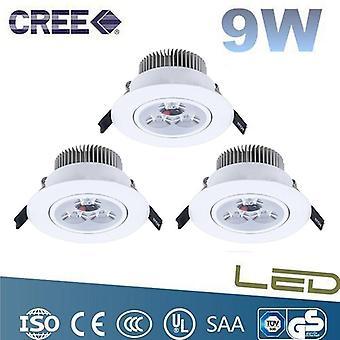 CREE LED spotlight 3 pack downlight 3X3W (9w) Dimbar
