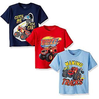 Nickelodeon Little Boys' Toddler Blaze and Monster Machines 3 Pack T-Shirt Bu...