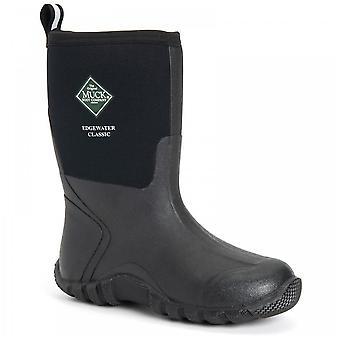 Muck Boots Mens Black Edgewater Classic Trek korte laarzen aan