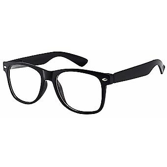 Clear Retro Style Oversized Black Frame Nerd Geek Glasses