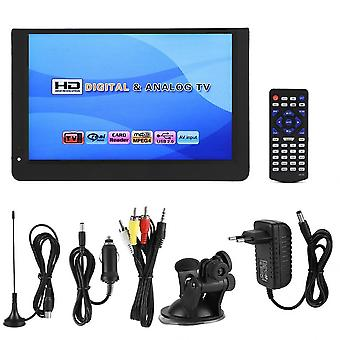12 Inch 1080p Hd Portabil Tv Dvb-t2 Atsc Isdb-t Analog Led Televizoare Suport Pentru Tf Card Usb Audio Video Player Car Tv
