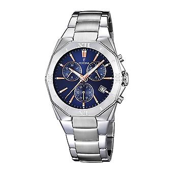 Festina chrono 5atm Watch for Analog Quartz Men with Stainless Steel Bracelet F16757/6