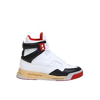 Maison Margiela S37ws0560p3712h8316 Mænd's Hvid Læder Hi Top Sneakers