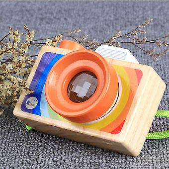 Toy Camera, Cute Cartoon Baby, Wooden Toy Room Decor - Wooden Camera