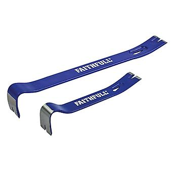 Faithfull Utility Bars Twin Pack 175mm (7in) & 375mm (15in)