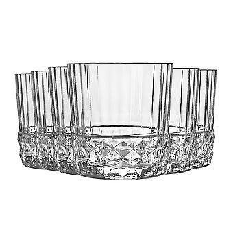 Bormioli Rocco 12 Piece America '20s Highball Glasses Set - Vintage Art Deco Cocktail Tumblers - 380ml
