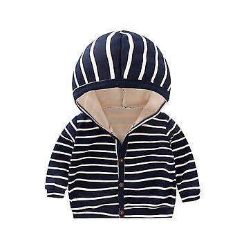 ربيع الطفل، الخريف مخطط الملابس، طويل الأكمام معطف قمم، جاكيت