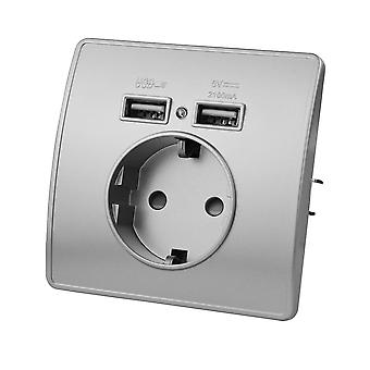 Eu Standard Electrical Wall Charger Adapter Charging Wall Germany Plug Socket Power Outlets Pc Panel