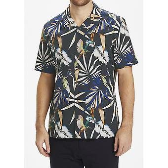 Trostol Palm Print Short-Sleeved Shirt