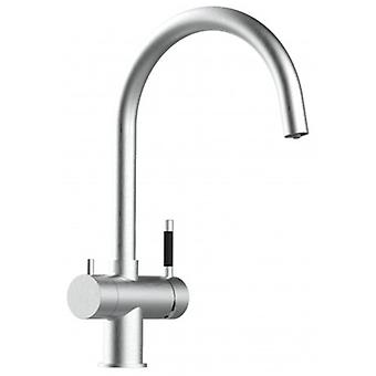 3way Kitchen Sink Mixer 100% Stainless Steel With Separated Water Flow For Water Filter System, Brushed Finish - 121