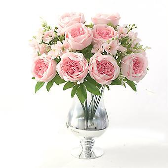 9 Heads Piwonia Symulacja Kwiaty Bride&Apos;s Hand Bouquet