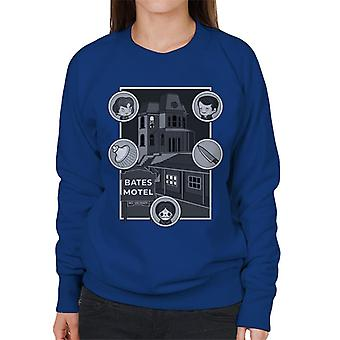 Psycho Bates Motel Kawaii Character Icons Women's Sweatshirt