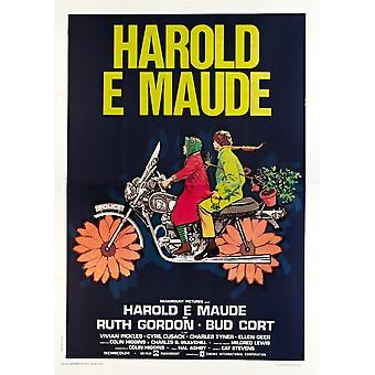 Harold et Maude affiche italienne de gauche Ruth Gordon Bud Cort 1971 Movie Poster Masterprint