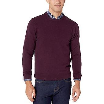 Essentials Men's Midweight Crewneck Sweater, Burgundy, Medium
