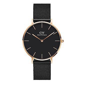 Daniel Wellington DW00100307 Petite Ashfield Black Mesh Strap Wristwatch