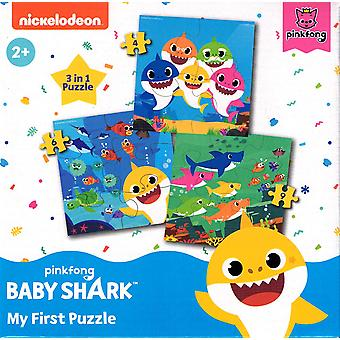 3 en 1 Baby Shark My First Puzzle 4, 6 et 9 Pieces Puzzle