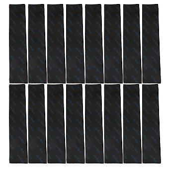 16x schwarz 18CM Rechteck Anti Slip Teppich Greifer für Teppiche Boden Home