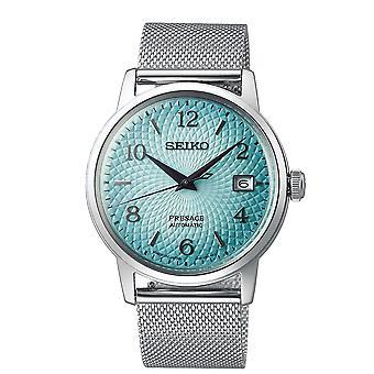 Seiko SRPE49J1 Presage Turkoosi & Hopea Limited Edition Automaattinen Verkko Miesten Watch