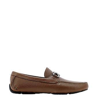 Salvatore Ferragamo 671736 Männer's Braunleder Loafers
