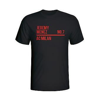 ジェレミー ・成果の創出と Ac ミラノのチーム t シャツ (ブラック)