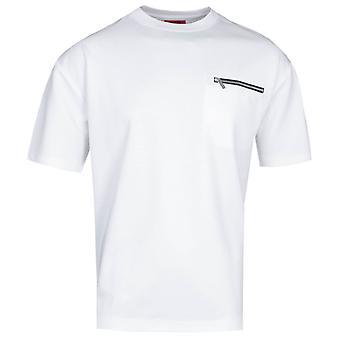HUGO Dlazo Zipped Pocket White T-Shirt