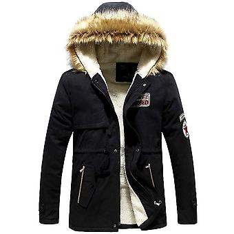 Winter Thick Slim Fur Hooded Outwear Warm Coat Casual Solid Brand Outwear