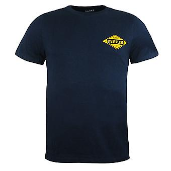 Timberland New Hampshire Mens T-Shirt Navy Graphic Top A1LMZ 433