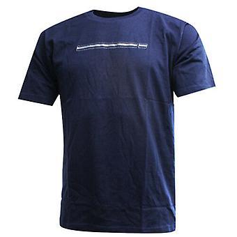 Nike Running Navy Blue Short Sleeve Dri-Fit Mens Tee Top T-Shirt 111261 451 A72C