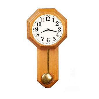 Dolls House Octaganol Regulator Wall Clock Miniature 1:12 Scale Accessory