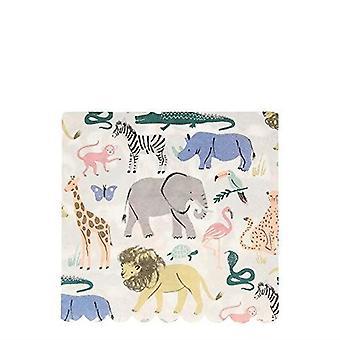 Meri Meri SAFARI Animals Large Paper Party Napkins X 20