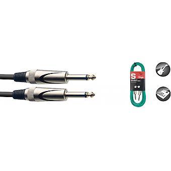 Stagg sgc3dl cgr cable de instrumento de 3m/10ft - verde