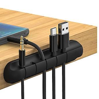 USB-Kabel Kopfhörer Draht Organizer Desktop Kabel Organizer Silikon ordentlich Management Clips Kabelhalter für Maus