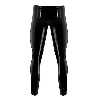 Slim Fit Shiny Patent Leather Tight Pant