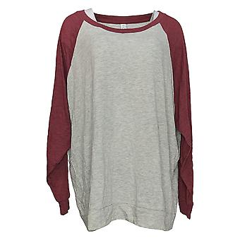 Alternatieve kleding Dames's Top Plus Eco Jersey Pullover Gray A343355