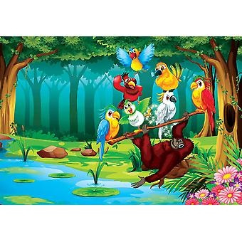 Mural de fondo de pantalla con animales salvajes i