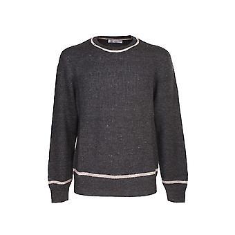 Brunello Cucinelli M2l703200cb145 Hombres's Suéter de lino gris