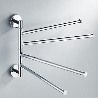 Bathroom Towel Rack Rotating Holder Wall Mounted Hanger Stainless Steel Swivel