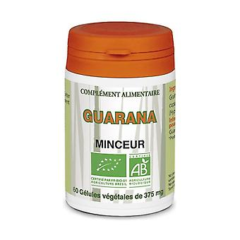 Organic guarana 60 capsules of 375mg
