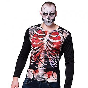 Shirt Creepy Carcass Men's Polyester Black / White Size M / L