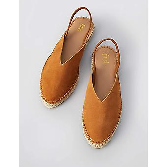 Brand - find. Women's Slingback Leather Espadrille Slip-On Shoe,Brown ...