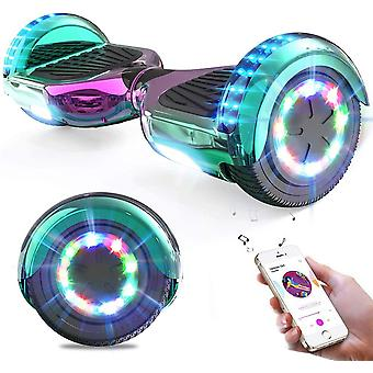 Right Choice Hoverboard Self Balanced Electric Scooter - eingebaute Bluetooth Lautsprecher - LED Wheel