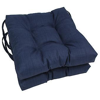 Coussins de chaise touffu en polyester extérieur spun extérieur de 16 pouces (ensemble de 2) - Azul