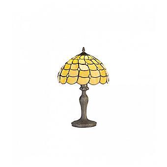 Lámpara De Sobremesa Tiffany Breeze 1 Bombilla Beige 35 Cm