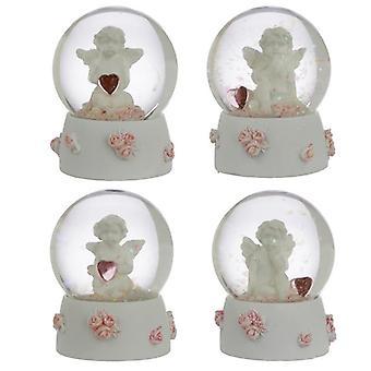 Verzamelbare vrede van hemel cherubijn - zoete dromen sneeuwbol 4 geleverd