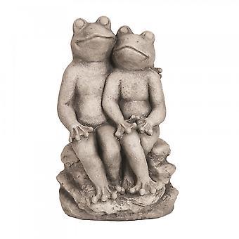 Straits Deco 38cm Garden Frog Outdoor Weatherproof Statue
