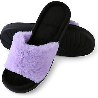 Aerusi Frauen's Loulu Fluffy Slide Slipper
