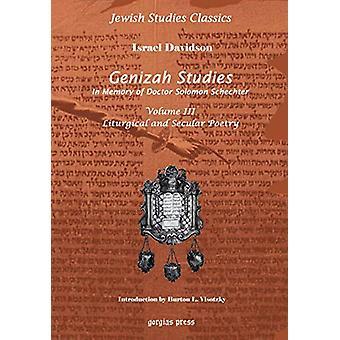 Genizah Studies in Memory of Doctor Solomon Schechter (Vol 3) by Isra