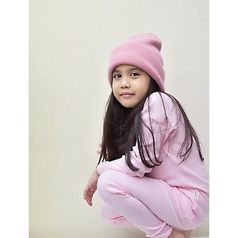 Sladká ružová rebrovaná lounge súprava Unisex Pyjama
