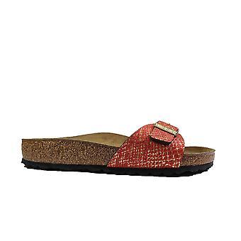Birkenstock Madrid MF Python Red Womens Slip On Mule Sandals