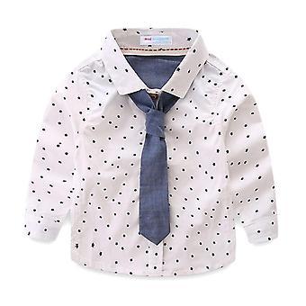 Camisas para niños con corbata, estampados de estrellas lindas, manga larga, tops para, niños casuales